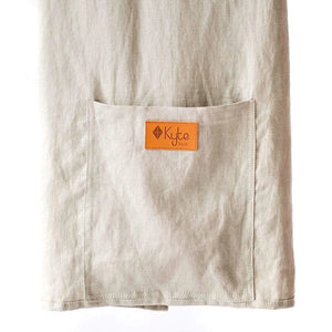 kyte baby linen ring sling driftwood with black rings