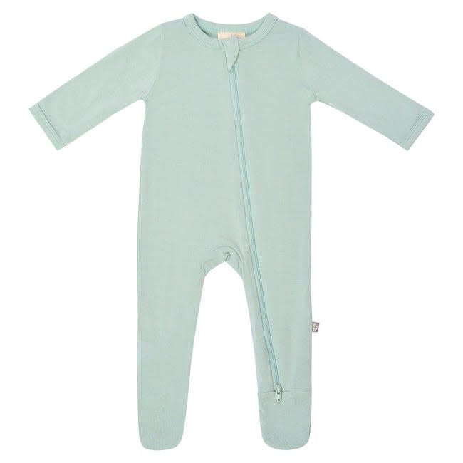 kyte baby zippered footie - sage