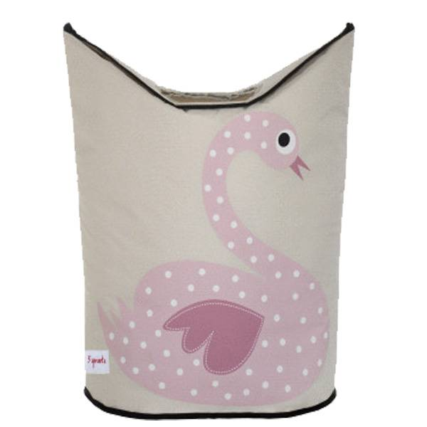3 sprouts laundry hamper - swan