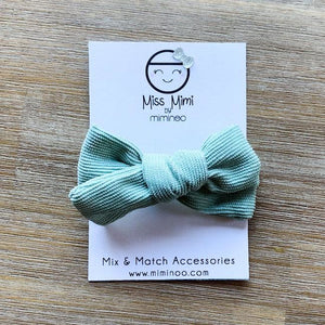 miss mimi by miminoo sage corduroy hair bow - headband