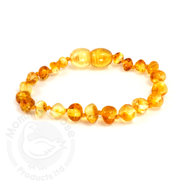 momma goose lemon amber adult bracelet 7.5""