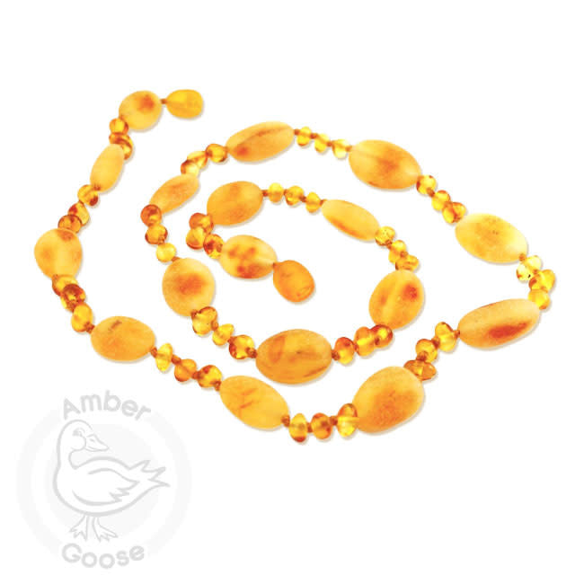 momma goose honey hen + chicks amber baby necklace