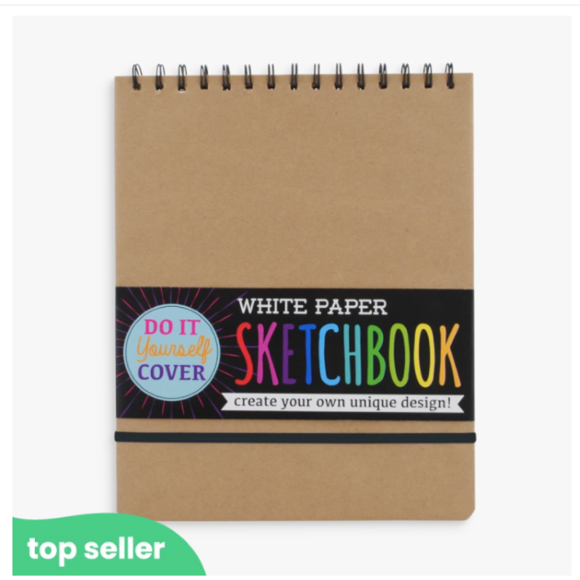ooly large DIY sketchbook - white paper