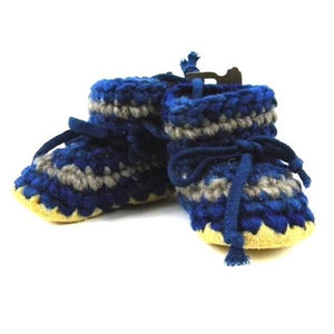 padraig cottage youth slippers - denim stripe