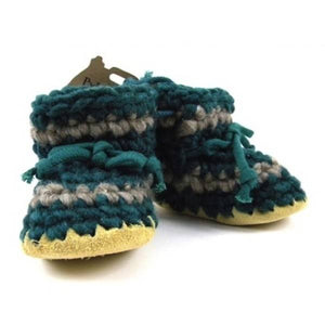padraig cottage youth slippers - forest stripe