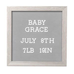 pearhead letterboard set - light grey