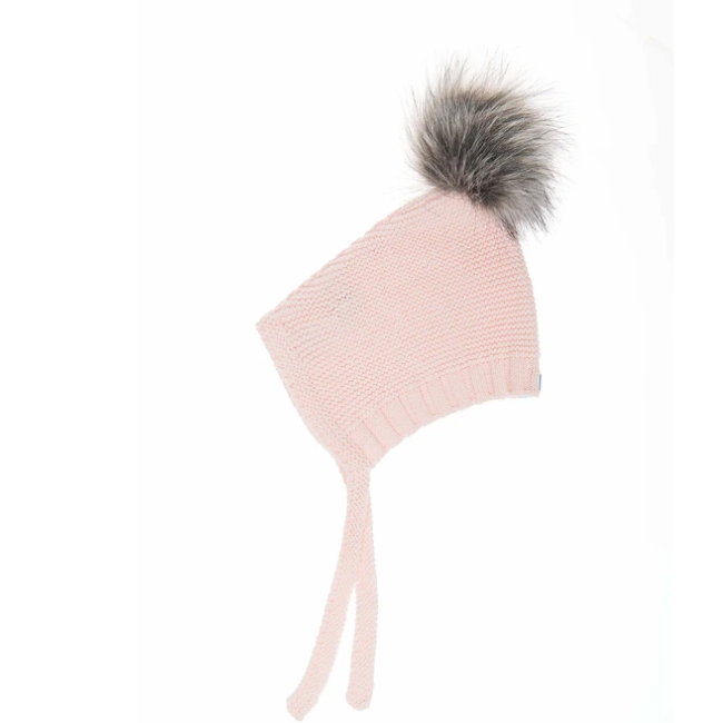 beba bean pom pom hat in pink