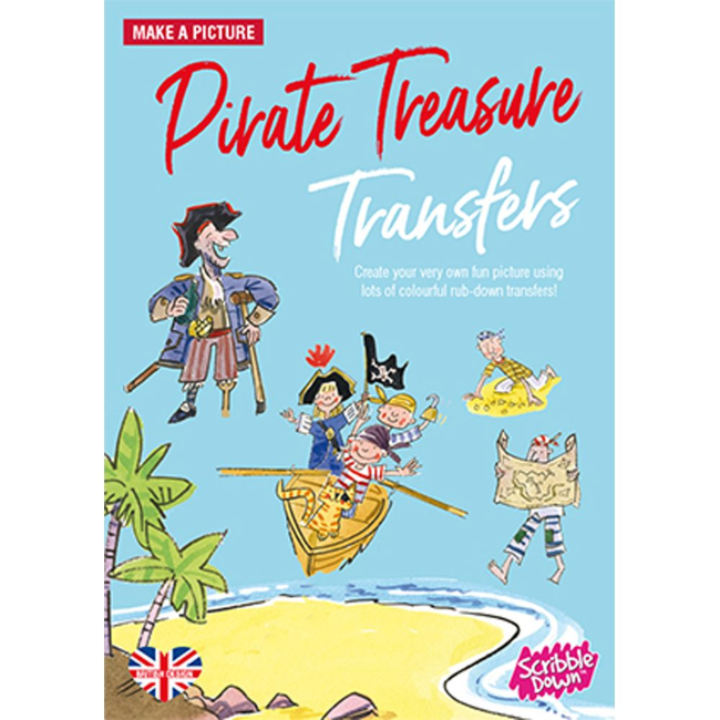 playwell scribble down transfers pirate treasure