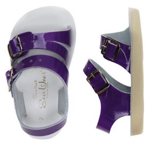 saltwater sandals sea wees infant sandal - shiny purple
