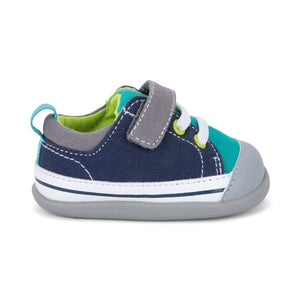 see kai run stevie first walker - teal + navy