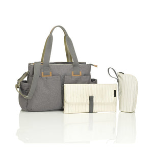 storksak travel shoulder changing bag - grey
