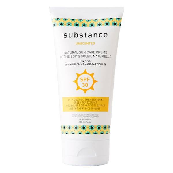 matter company substance SPF 30 unscented suncare creme sunscreen 180ml (6oz)