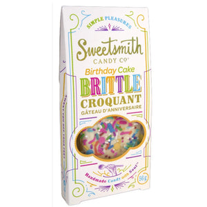sweetsmith candy co vanilla birthday cake brittle 56g