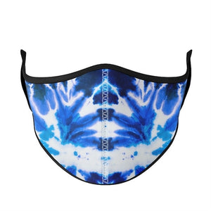 top trenz large adult mask - blue tie dye