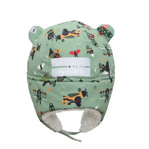 flapjacks water repellent trapper hat green black bear