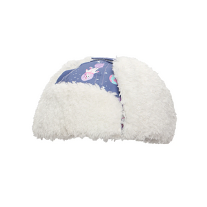 flapjacks water repellent trapper hat indigo unicorn