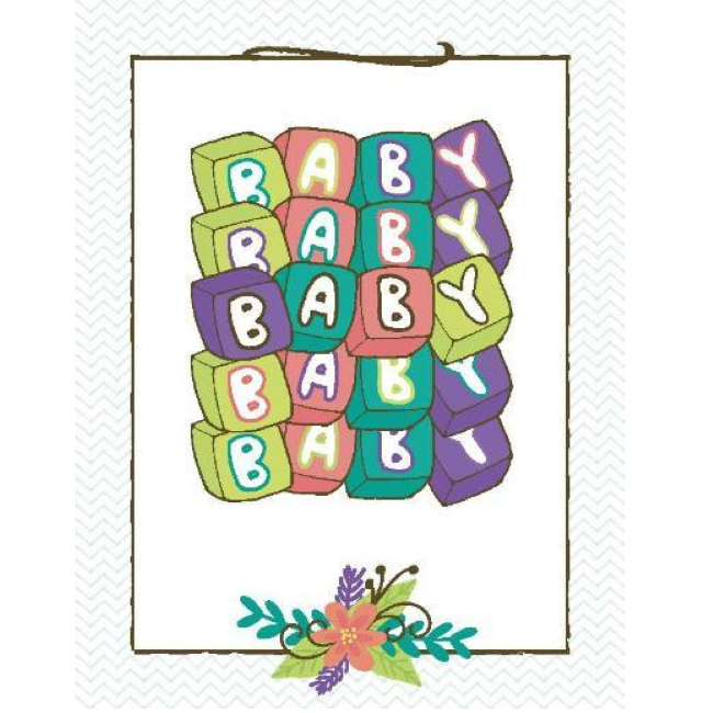 yellow bird paper greetings - baby baby