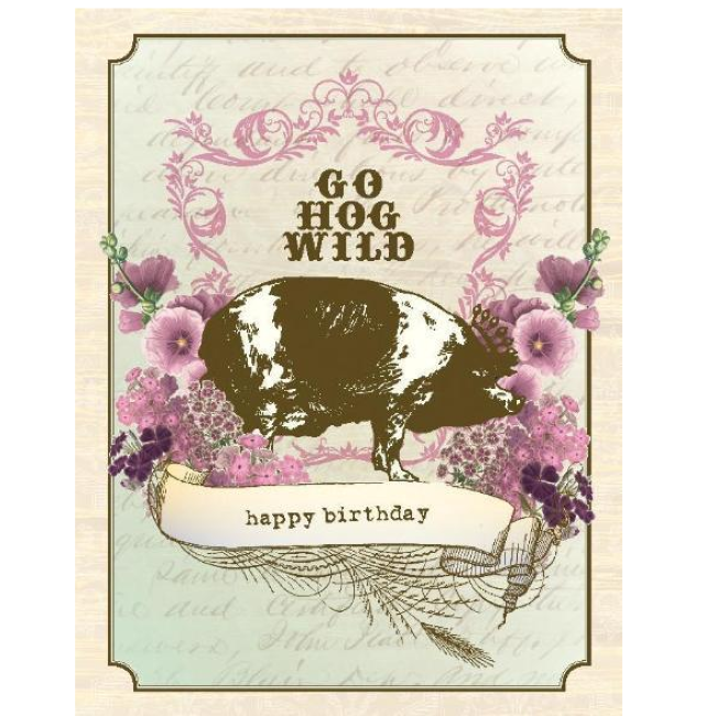 yellow bird paper greetings - vintage hog wild