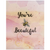 yellow bird paper greetings - you're beeutiful verve card