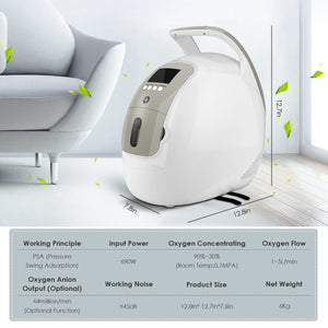 Adjustable Handle Oxygen Concentrator ZH-J11