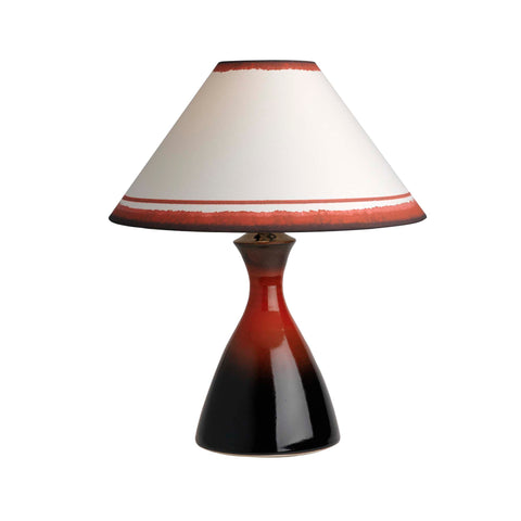 4010C16B Conical Lamp & Coolie Shade (7411 Russet)
