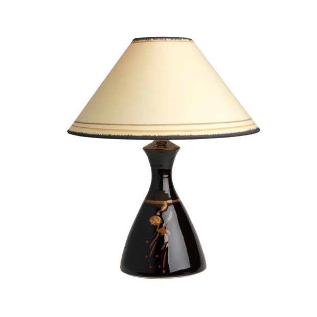4010C16B Conical Lamp & Coolie Shade (7411 Tenmoku)
