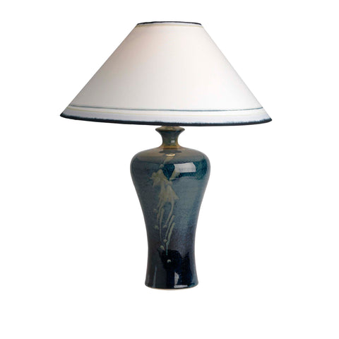 409BC18B Medium Lamp & Coolie Shade (7439 Navy)