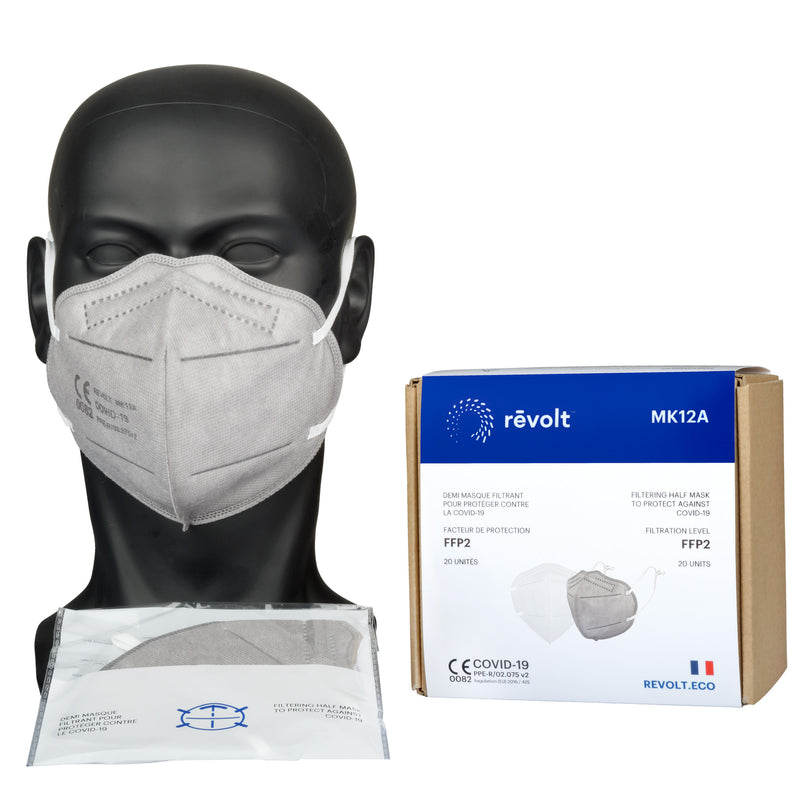 20 folded protective masks - ear loops