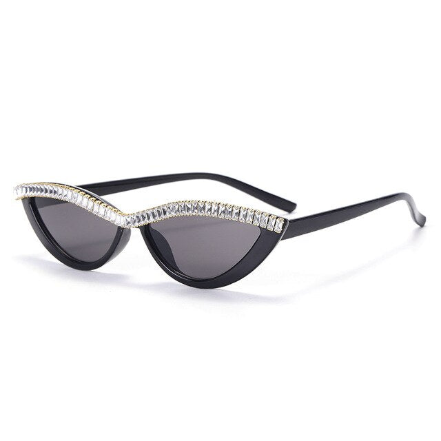 Rear Breed Cat eye Sunglasses - Black