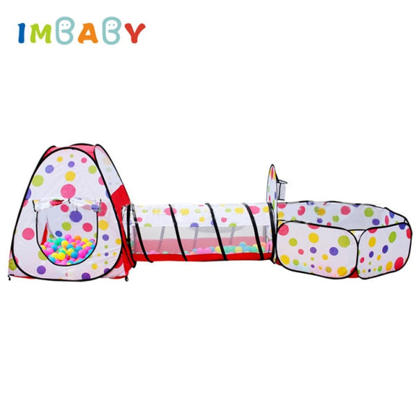 3 In 1 Baby Playpen - Portable Baby Play Tent - Kids Ocean Balls Pool Foldable - Tunnel Play House
