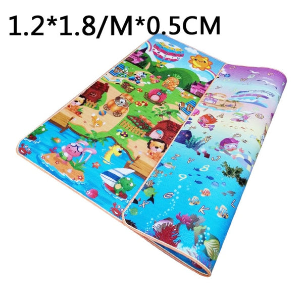 Baby Play Mat Folding XPE Crawling Pad Folding Waterproof Non-slip Puzzle Game Playmat