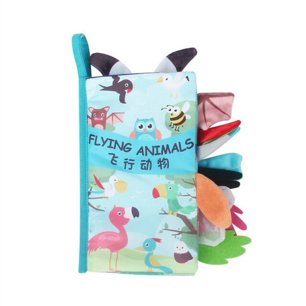 Baby Rattles Mobiles Toy - Soft Animal Cloth Book - Newborn Stroller Hanging Toy - Bebe Early Learning