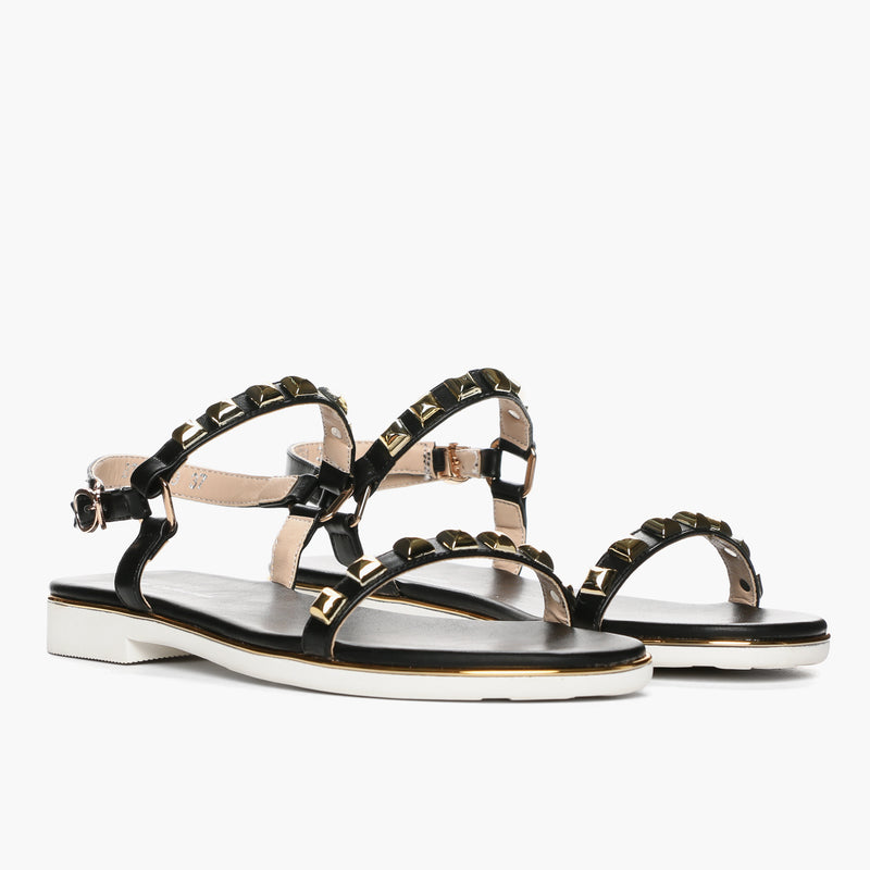 Gibi Ladies' BT7139 Sandals in Black