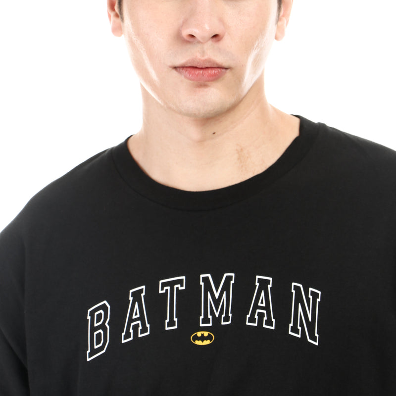 DC Comics Batman Boys Teens Batman Typography Tee in Black