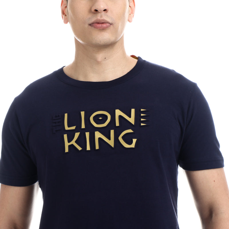 Disney Lion King Boys Teens' Font Face Tee in Navy Blue