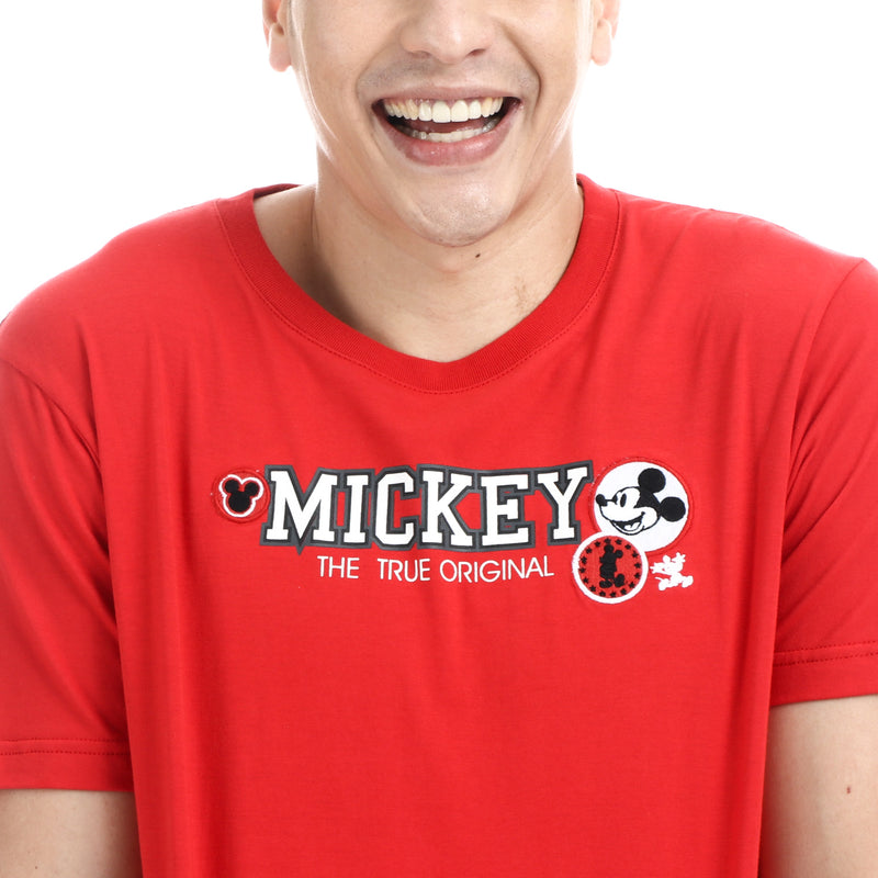 Disney Mickey Mouse Boys Teens Original Tee in Red