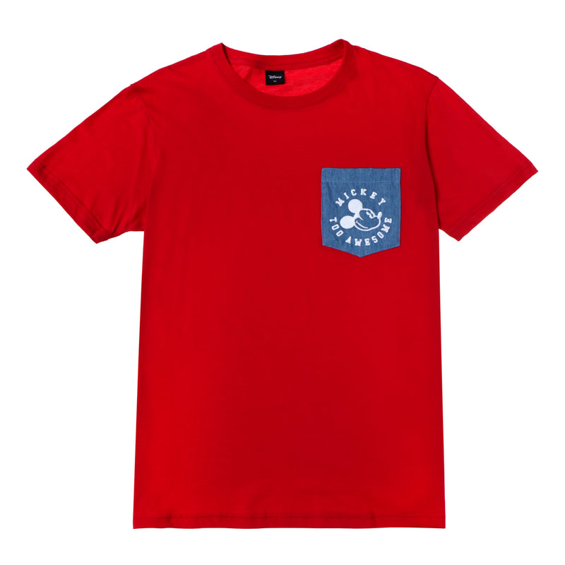 Disney Mickey Mouse Boys Teens' Too Awesome Pocket Tee in Red