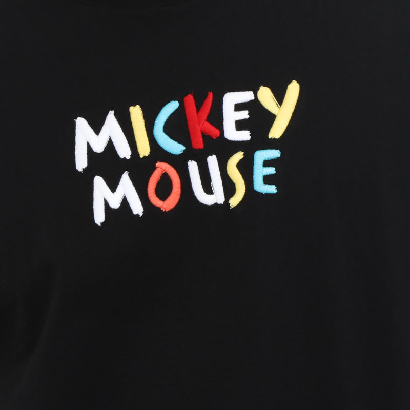 Disney Mickey Mouse Boys Teens' Colorful Statement Tee in Black