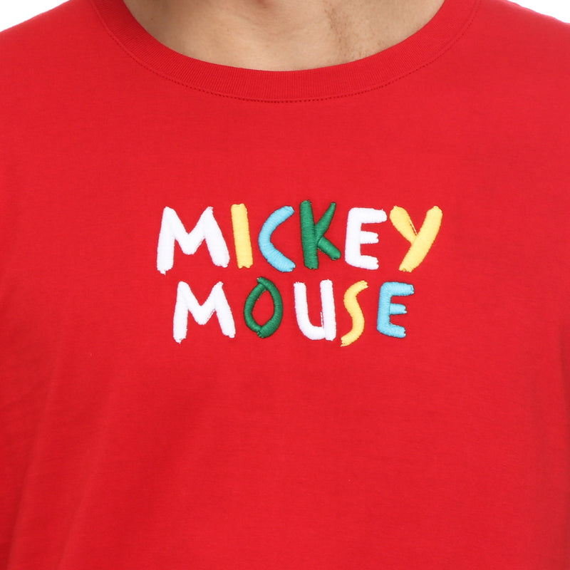 Disney Mickey Mouse Boys Teens' Colorful Statement Tee in Red