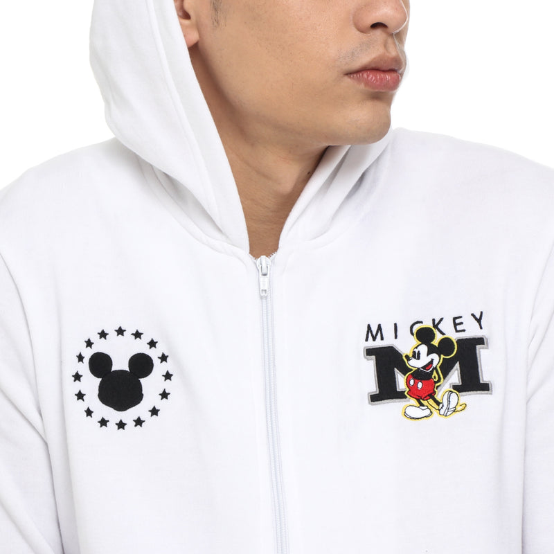 Disney Mickey Mouse Boys Teens' Mickey Patch Jacket in White