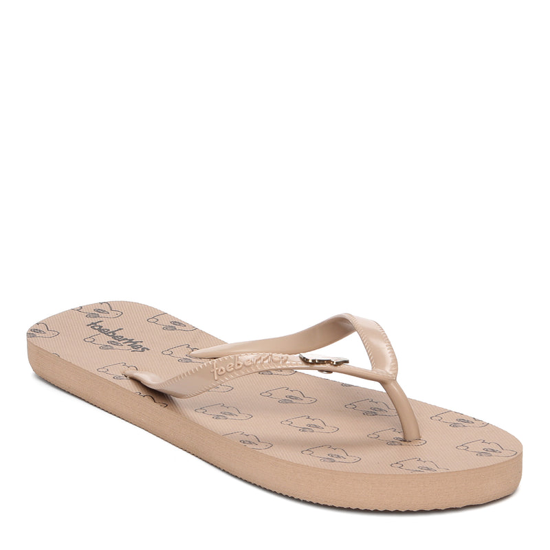 Toeberries Ladies' Happy Bunny Flip-flops in Mocha