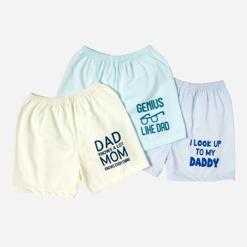 SM Basics Baby Boys' 3-Piece I Look Up To My Dad Shorts Set