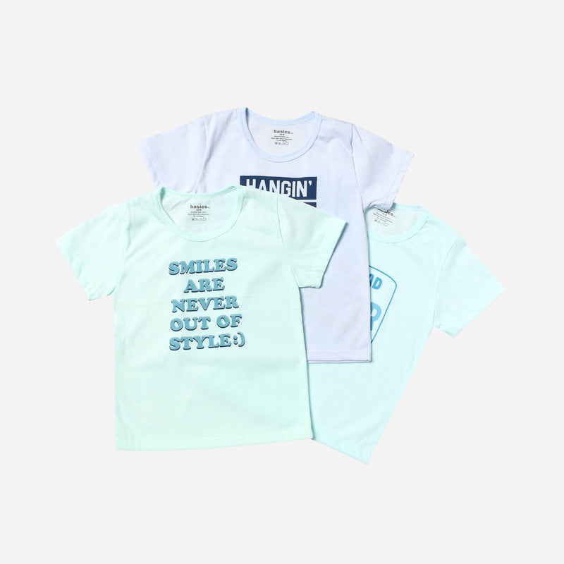SM Basics Baby Boys' 3-Piece My Dad is Super Awesome Tee Set