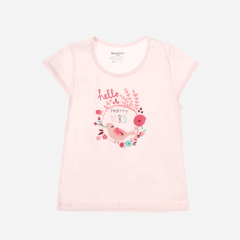 SM Basics Baby Girls' 3-Piece Pretty Little Things Tee Set