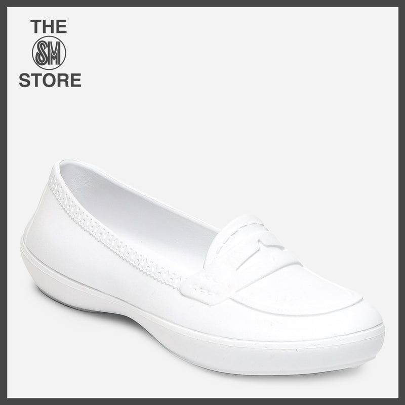 Duralite Ladies' Abby Penny Loafers in White