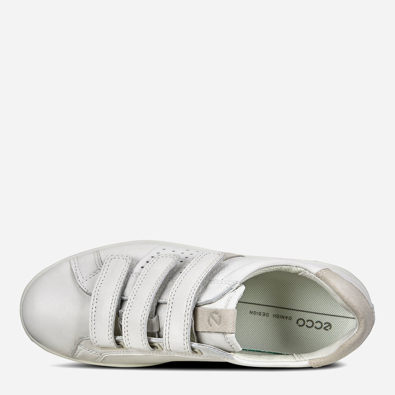 ECCO Ladies' Soft 1 Strap Sneakers in White