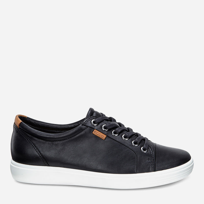 ECCO Ladies' Soft 7 Sneakers in Black
