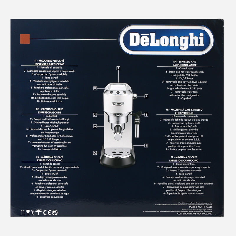 De'Longhi Pump Driven Espresso Maker Dedica EC 685 - White