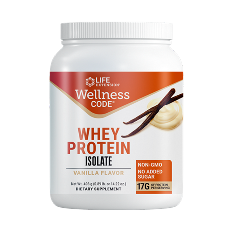 Whey Protein Isolate Vanilla Flavor .454 grs