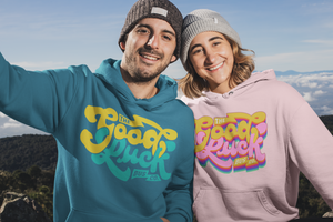 The Good Luck Bus Co. Retro Rainbow Unisex Hoodie